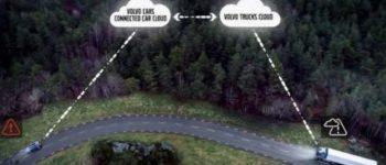 خطرات بین ماشین و کامیون به راننده هشدار داده می شود